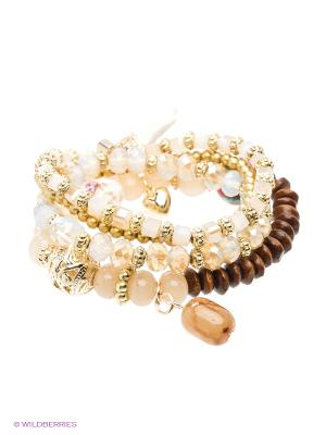 Браслет Royal Diamond. Цвет: коричневый, бежевый, золотистый