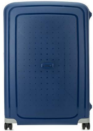 Большой чемодан на колесах Samsonite. Цвет: синий
