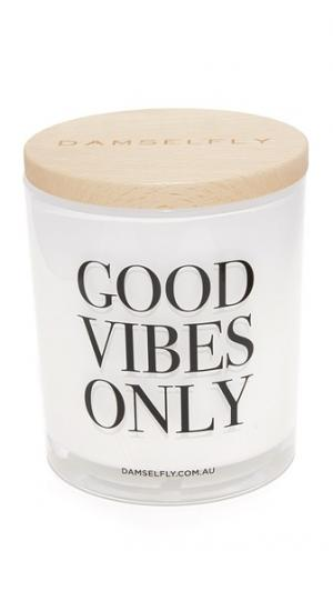 Свеча Good Vibes Only XL Damselfly