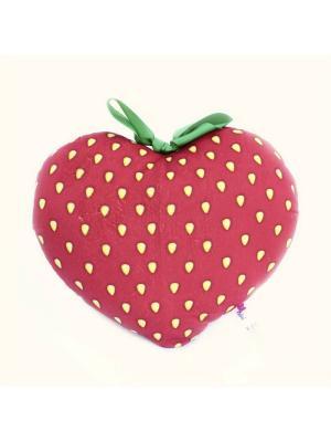 Мягкая игрушка Сердце Клубничка Malvina. Цвет: красный