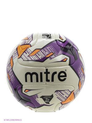 Мяч футбольный MITRE ECCITA FIFA Inspected. Цвет: черный, сиреневый, оранжевый, белый