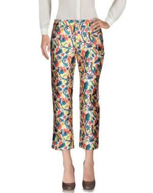 Повседневные брюки WEILI ZHENG. Цвет: бежевый