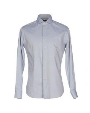 Pубашка ZANETTI. Цвет: светло-серый