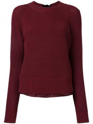 Трикотажный свитер Muveil. Цвет: красный