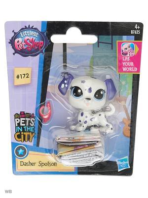 Игрушка Зверюшка Littlest Pet Shop. Цвет: белый, прозрачный, фиолетовый