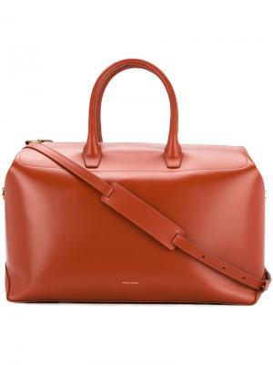 Большая дорожная сумка-тоут Mansur Gavriel. Цвет: коричневый