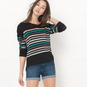 Пуловер в полоску Pierrick SUNCOO. Цвет: черный