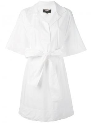 Платье-рубашка с широкими рукавами Paule Ka. Цвет: белый