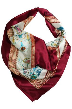 Шелковый платок SHALBE. Цвет: бордовый