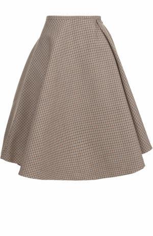 Пышная юбка-миди со складкой No. 21. Цвет: бежевый