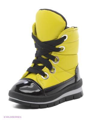 Дутики Jog Dog. Цвет: желтый