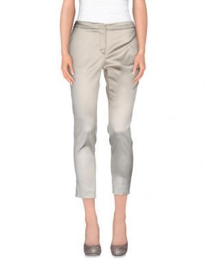 Повседневные брюки MONTECORE. Цвет: светло-серый
