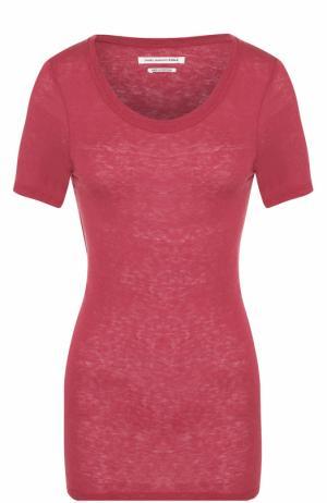 Шелковая приталенная футболка Isabel Marant Etoile. Цвет: бордовый
