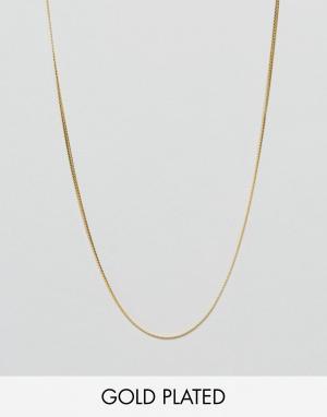 ASOS Цепочка из позолоченного серебра. Цвет: золотой