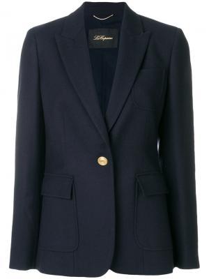 Пиджак с накладными карманами Les Copains. Цвет: синий
