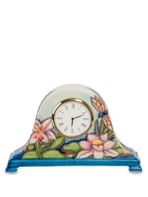 Часы настольные Pavone. Цвет: белый, голубой