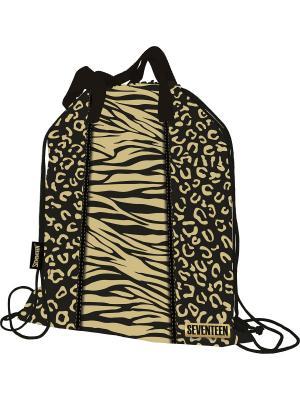 Сумка-рюкзак для обуви. Seventeen. Цвет: горчичный, черный