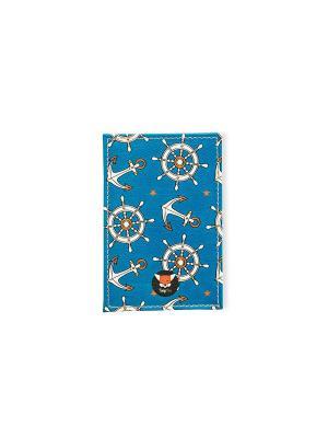 Чехол для проездного Штурвалы TonyFox. Цвет: синий, красный