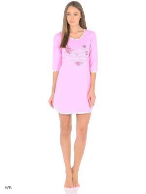 Ночная сорочка HomeLike. Цвет: розовый