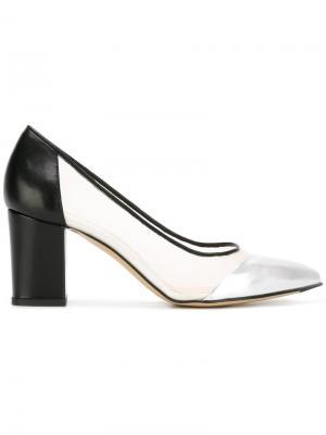 Туфли-лодочки с сетчатой панелью Bionda Castana. Цвет: чёрный
