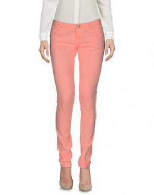 Повседневные брюки PARIS HILTON. Цвет: лососево-розовый