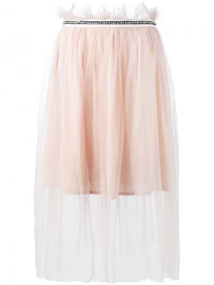 Декорированная тюлевая юбка Mother Of Pearl. Цвет: розовый и фиолетовый