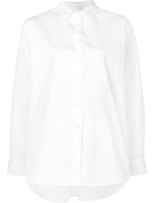 Удлиненная рубашка Toteme. Цвет: белый