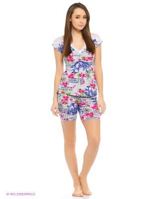 Пижама Далиса. Цвет: синий, розовый, белый
