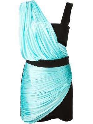 Платье в стиле колор-блок Fausto Puglisi. Цвет: чёрный