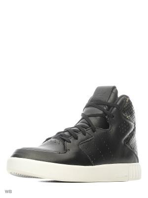 Кеды жен. TUBULAR INVADER 2.0 CBLACK/CBLACK/FTWWHT Adidas. Цвет: черный
