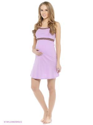 Сорочка для беременных и кормящих ФЭСТ. Цвет: сиреневый
