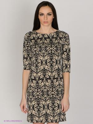 Платье Capriz. Цвет: бежевый, черный