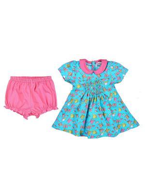 Комплект одежды для малышей UMKA. Цвет: голубой