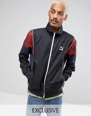 Puma Черная спортивная куртка в винтажном стиле эксклюзивно для ASOS. Цвет: черный