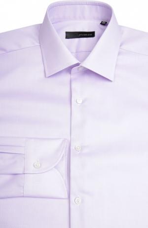 Сорочка свободного фасона с воротником кент Stanbridge. Цвет: сиреневый
