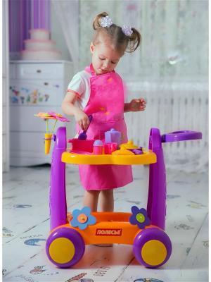Сервировочный столик Полесье.. Цвет: фиолетовый, оранжевый