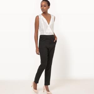 Комбинезон с брюками кружевными вставками MOLLY BRACKEN. Цвет: белый