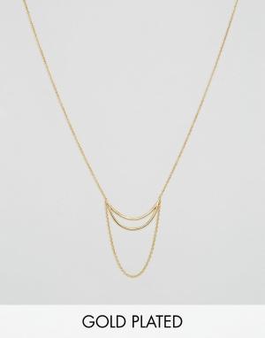 Gorjana Многоярусное ожерелье Remy. Цвет: золотой