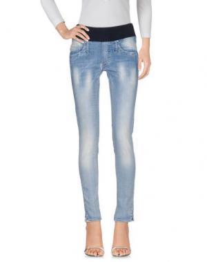 Джинсовые брюки PIETRO BRUNELLI. Цвет: синий
