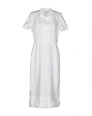 Платье до колена COMME DES GARÇONS. Цвет: белый