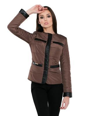 Куртка Alisa Line. Цвет: коричневый