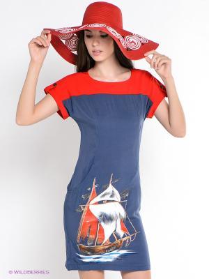 Платье Наталья Новикова. Цвет: красный