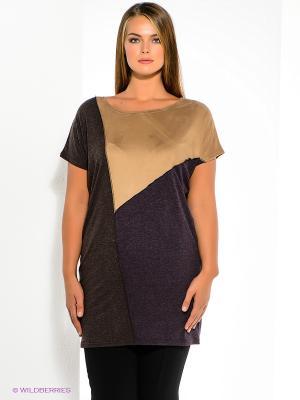 Туника МадаМ Т. Цвет: темно-фиолетовый, коричневый, темно-коричневый
