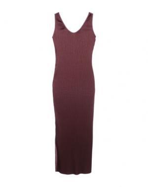 Длинное платье BARBARA CASASOLA. Цвет: красно-коричневый