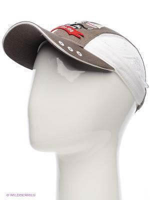 Бейсболка Maxval. Цвет: коричневый, белый