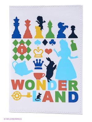 Обложка для автодокументов Wonder land Mitya Veselkov. Цвет: белый, синий, голубой, желтый
