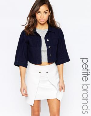 Waven Petite Куртка прямого кроя Tak. Цвет: синий