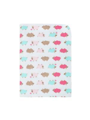 Пеленка детская в подарочной упаковке Lucky Child. Цвет: белый, светло-зеленый, розовый