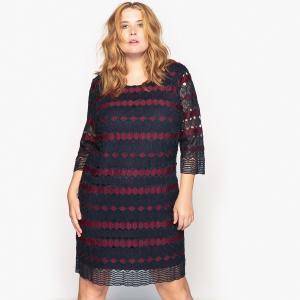 Платье прямое из гипюра CASTALUNA. Цвет: двухцветный