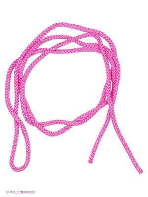 Скакалка гимнастическая Larsen. Цвет: розовый